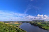 Landschaft an der Aulne, Bretagne, Frankreich Landscape in Brittany, France