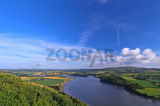 Landschaft an der Aulne, Bretagne, Frankreich