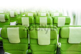 Airplane seats in cabin