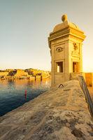 Sunrise over Valletta,Malta seen from Senglea
