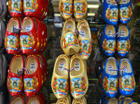 Dutch wooden shoes as souvenir, Volendamm, North Holland, Netherlands