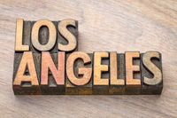 Los Angeles in wood type