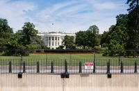 White House with expanded security cordon and focus on Restricted sign