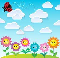 Spring topic background 9