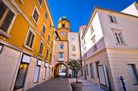 City of Rijeka main square and clock tower view