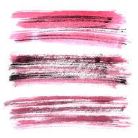 Red grunge brush stroke