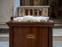 Votive or Prayer candles in roman catholic church