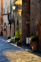 Architecture of historic center of Pienza in Tuscany