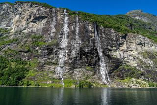 Sieben Schwestern am Geirangerfjord