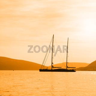 Seascape with sail ship