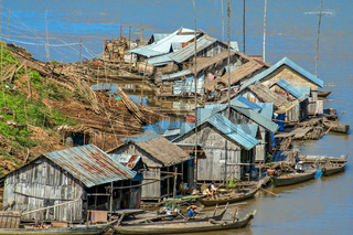 Floating village in Cambodia
