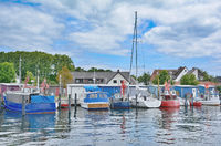 Harbor of Niendorf(Timmendorfer Strand) at baltic Sea,Schleswig-Holstein,Germany