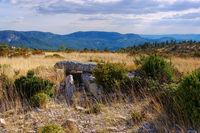 Dolmen de la Roque in den Cevennen - Dolmen de la Roque in Cevennes