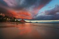 Amazing sunset at Mauritius island