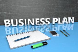 Business Plan text concept