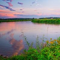 The Warta polish river