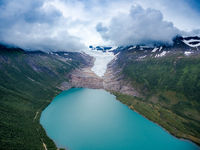 Svartisen Glacier in Norway.