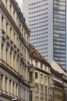 Leipzig - City centre with high-rise building, Germany