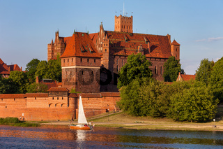 High Castle of Malbork Castle River View