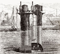 Construction of the Tay Rail Bridge
