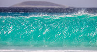 Crystal clear turquoise wave, seascape, Cape le Grand National Park, Western Australia