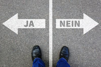 Ja Nein Richtig falsch Antwort Business Konzept Lösung Entscheidung entscheiden