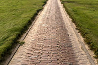 Brick Path in Westerhever in Germany