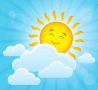 Happy sleeping sun theme image 2