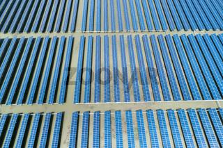 solar power farms aerial view