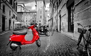 Motorbike in Rome