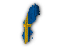 Karte und Fahne von Schweden - Map an flag of Sweden