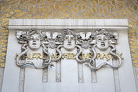 Vienna - Secession, Gorgons above the front door