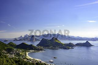 Skyline of Rio de Janeiro from Niteroi