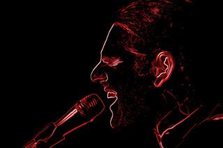 singing loud