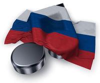 musiknote und russische flagge - 3d illustration