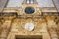 Sculptural decoration over the entrance to Palazzo Vilhena, now Museum of Natural History, Mdina