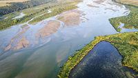 Noibrara River in Nebraska - aerial view
