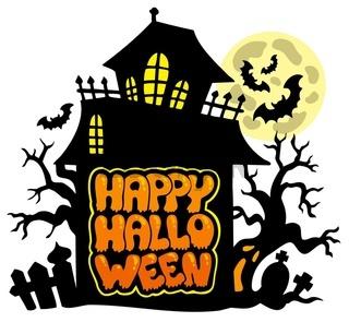 Happy Halloween theme 2 - color illustration.