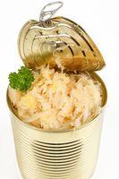 sauerkraut in a tin can