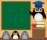School penguins theme image 4