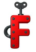buchstabe f auf weißem hintergrund - 3d illustration