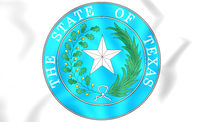 Seal of Texas, USA. 3D Illustration.