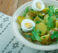 Finnish salad with new potatoes