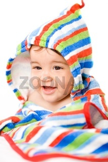 Happy baby in colors