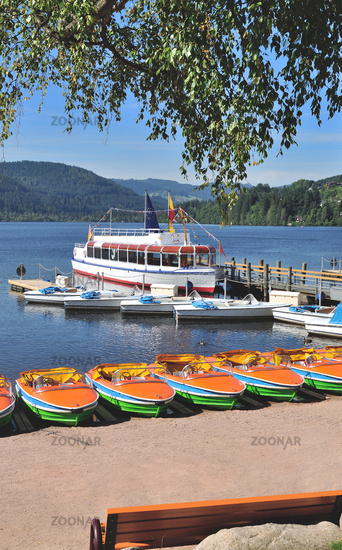 at Lake Titisee in Black Forest,Baden-Wuerttemberg,Germany