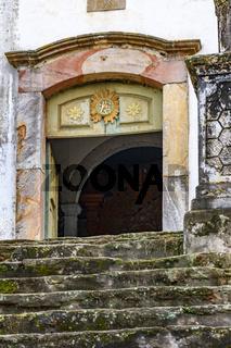Stairs towards the church door