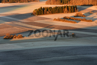 Feldermosaik auf der Schwaebischen Alb