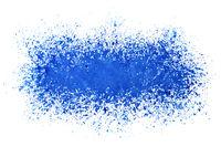 Sprayed stripe of blue paint