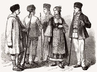Bulgarian costumes, 19th century