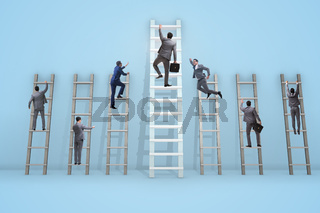 Career progression concept with various ladders